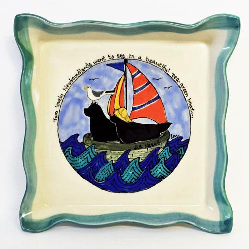 Newfs In A Pea Green Boat Platter